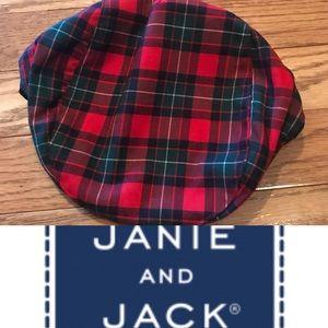 Janie & Jack boys 12-18M plaid cap